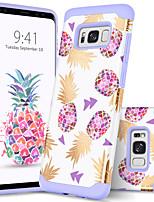 Недорогие -Кейс для Назначение SSamsung Galaxy S8 Plus Защита от удара / С узором Кейс на заднюю панель Растения / Фрукты Твердый ПК / силикагель для S8 Plus