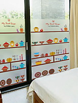 cheap -Window Film & Stickers Decoration Contemporary / Ordinary Character PVC(PolyVinyl Chloride) Window Sticker / Lovely