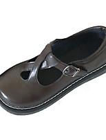 Недорогие -Жен. Комфортная обувь Полиуретан Осень На каждый день На плокой подошве На плоской подошве Черный / Коричневый