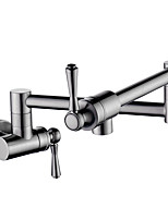cheap -Kitchen faucet - Contemporary Nickel Brushed Pot Filler Wall Mounted