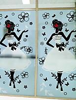 Недорогие -Оконная пленка и наклейки Украшение Художественные / Ретро С принтом ПВХ Новый дизайн / Cool