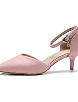 abordables -Femme Escarpins Matière synthétique Automne Chaussures à Talons Kitten Heel Bout pointu Vert / Rose / Soirée & Evénement