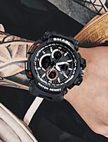 Недорогие -Муж. электронные часы Японский Кварцевый 50 m Секундомер Творчество Фосфоресцирующий силиконовый Группа Аналого-цифровые Кольцеобразный Мода Черный / Красный / Оранжевый -  / Два года