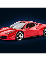 Недорогие -Машинка на радиоуправлении Rastar 47300-8 10.2 CM 27MHz Автомобиль 1:18 8 km/h КМ / Ч Подсветка / На пульте управления