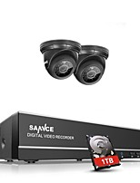 cheap -4 Channel 720P (1280*720) 2 pcs 720P Dome 20 m 1TB