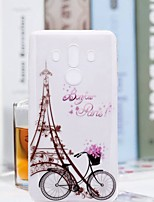 Недорогие -Кейс для Назначение Huawei Mate 10 pro / Mate 10 lite Прозрачный / С узором Кейс на заднюю панель Эйфелева башня Мягкий ТПУ для Mate 10 / Mate 10 pro / Mate 10 lite