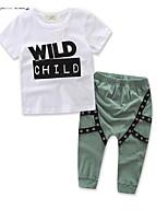 Недорогие -Дети Мальчики Однотонный С короткими рукавами / Длинный рукав Набор одежды