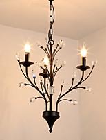Недорогие -JLYLITE 3-Light Люстры и лампы Рассеянное освещение Окрашенные отделки Металл Мини 110-120Вольт / 220-240Вольт Лампочки не включены / E12 / E14