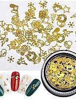 billiga -1 pcs Nagelsmycken Miljövänlig / Multifunktion Kreativ Snöflinga nagel konst manikyr Pedikyr Jul / Dagligen / Festival Mode
