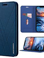 baratos -Capinha Para Apple iPhone XR / iPhone XS Max Carteira / Porta-Cartão / Com Suporte Capa Proteção Completa Estampa Geométrica Rígida PU Leather / TPU para iPhone XR / iPhone XS Max