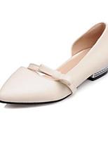 baratos -Mulheres Sapatos Confortáveis Couro Ecológico Primavera Rasos Salto Baixo Branco / Bege / Rosa claro