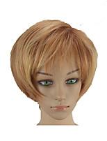 Недорогие -Парики из искусственных волос Прямой Стрижка под мальчика Искусственные волосы 10 дюймовый Мягкость / Жаропрочная / синтетический Блондинка Парик Жен. Короткие Без шапочки-основы Блондинка