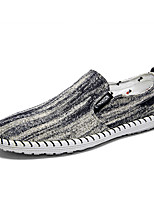 Недорогие -Муж. Комфортная обувь Деним Осень На каждый день Мокасины и Свитер Нескользкий Контрастных цветов Черный / Красный / Синий