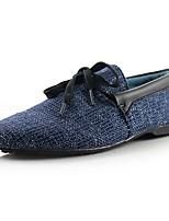 cheap -Men's Moccasin Linen Fall Loafers & Slip-Ons White / Gray / Blue