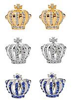 baratos -Formato Coroa Prata / Azul / Dourado Botões de Punho Liga Fashion / Elegante Mulheres Jóias de fantasia Para Festa / Cerimônia