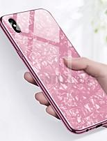 Недорогие -Кейс для Назначение Apple iPhone X / iPhone 8 Защита от удара / Покрытие Кейс на заднюю панель Мрамор Твердый Закаленное стекло для iPhone X / iPhone 8 Pluss / iPhone 8