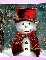 baratos -Cobertura de Almofada Natal Tecido de Algodão Quadrada Desenho Animado / Novidades Decoração de Natal