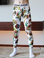 cheap -Men's Normal Polyester Gender Neutral Long Johns Geometric Mid Waist