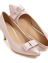 baratos -Mulheres Stiletto Couro Ecológico Primavera Saltos Salto Agulha Bege / Cinzento Escuro / Rosa claro