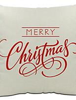 baratos -Cobertura de Almofada Férias Tecido Rectângular Novidades Decoração de Natal