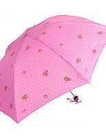 Недорогие -Нержавеющая сталь Все Солнечный и дождливой / обожаемый Складные зонты