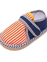 Недорогие -Девочки Обувь Хлопок Весна лето Обувь для малышей На плокой подошве На липучках для Дети (1-4 лет) Оранжевый