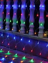 baratos -3x2m Cordões de Luzes 192 LEDs Multicolorido Decorativa / Adorável 220-240 V 1conjunto