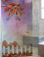 cheap -Window Film & Stickers Decoration Ordinary Flower / Floral PVC(PolyVinyl Chloride) Window Sticker