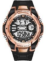Недорогие -SMAEL Муж. Спортивные часы Японский Цифровой 50 m Защита от влаги Календарь Фосфоресцирующий силиконовый Группа Цифровой На каждый день Мода Черный / Тёмно-зелёный -
