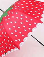 Недорогие -силикагель Жен. Солнечный и дождливой Складные зонты