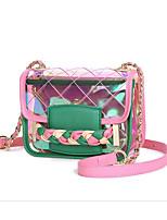 baratos -Mulheres Bolsas PVC / PU Bolsa de Ombro Botões Geométrica Rosa / Azul Céu