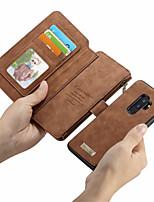 baratos -CaseMe Capinha Para Samsung Galaxy S9 Plus / S9 Carteira / Porta-Cartão / Flip Capa Proteção Completa Sólido Rígida PU Leather para S9 / S9 Plus / S8 Plus