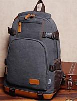 Недорогие -Муж. Мешки холст рюкзак Молнии Черный / Кофейный / Хаки