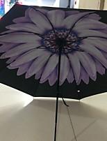 Недорогие -Ткань Все Солнечный и дождливой / Новый дизайн Складные зонты