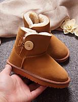Недорогие -Девочки Обувь Замша Зима Зимние сапоги Ботинки для Дети Пурпурный / Коричневый / Зеленый