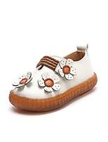 billiga -Flickor Skor Läder Höst vinter Komfort Platta Blomma för Barn / Tonåring Beige / Rosa