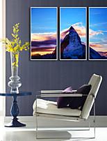 cheap -Framed Canvas / Framed Set - Landscape / Travel Plastic Illustration