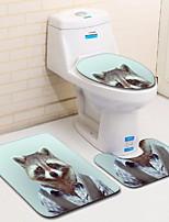 Недорогие -3 предмета Мультяшная тематика Коврики для ванны 100 г / м2 полиэфирный стреч-трикотаж Животное нерегулярный Очаровательный / обожаемый