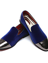 cheap -Men's Formal Shoes Faux Leather Fall & Winter Casual / Chinoiserie Loafers & Slip-Ons Non-slipping Striped Black / Red / Blue / Party & Evening
