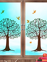 cheap -Window Film & Stickers Decoration Ordinary Floral PVC(PolyVinyl Chloride) New Design / Cool