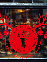 cheap -Window Film & Stickers Decoration Christmas Holiday PVC(PolyVinyl Chloride) Cool / Shop / Cafe