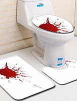 Недорогие -3 предмета Modern Коврики для ванны 100 г / м2 полиэфирный стреч-трикотаж Креатив нерегулярный Креатив