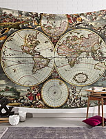 Недорогие -Море Декор стены Полиэстер Винтаж Предметы искусства, Стена Гобелены Украшение