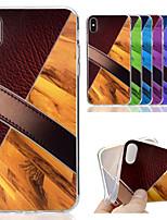 Недорогие -Кейс для Назначение Apple iPhone XS / iPhone XS Max С узором Кейс на заднюю панель Имитация дерева / Мрамор Мягкий ТПУ для iPhone XS / iPhone XR / iPhone XS Max