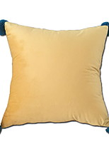 cheap -1 pcs Velvet Pillow Cover, Plain Modern / Contemporary