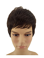 cheap -Synthetic Wig / Cosplay Wig Straight Pixie Cut Synthetic Hair 8 inch Normal / Heat Resistant / Synthetic Brown Wig Men's / Women's Short Capless Dark Brown