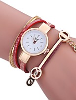 cheap -Women's Bracelet Watch Quartz New Design Casual Watch Imitation Diamond PU Band Analog Casual Fashion White / Blue / Red - Red Blue Pink One Year Battery Life
