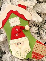 baratos -Meias de Natal Férias Tecido Cubo Novidades Decoração de Natal