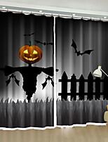 cheap -3D Curtains Bedroom Cartoon / Lolita Polyester Reactive Print