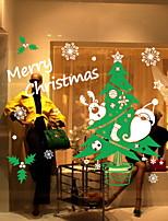 Недорогие -Оконная пленка и наклейки Украшение Рождество Праздник ПВХ Стикер на окна / Милый